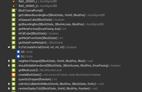 Screenshot of new code outline view in the action