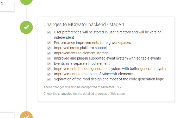 MCreator 2 roadmap - stage 1 is complete