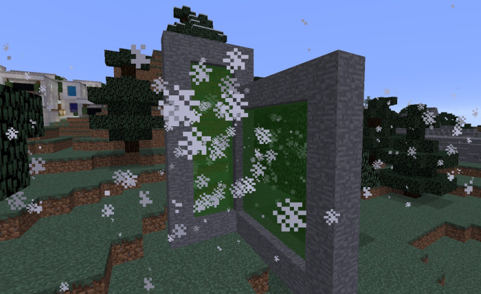 Universal sized Minecraft dimension portals with support for entity teleportation