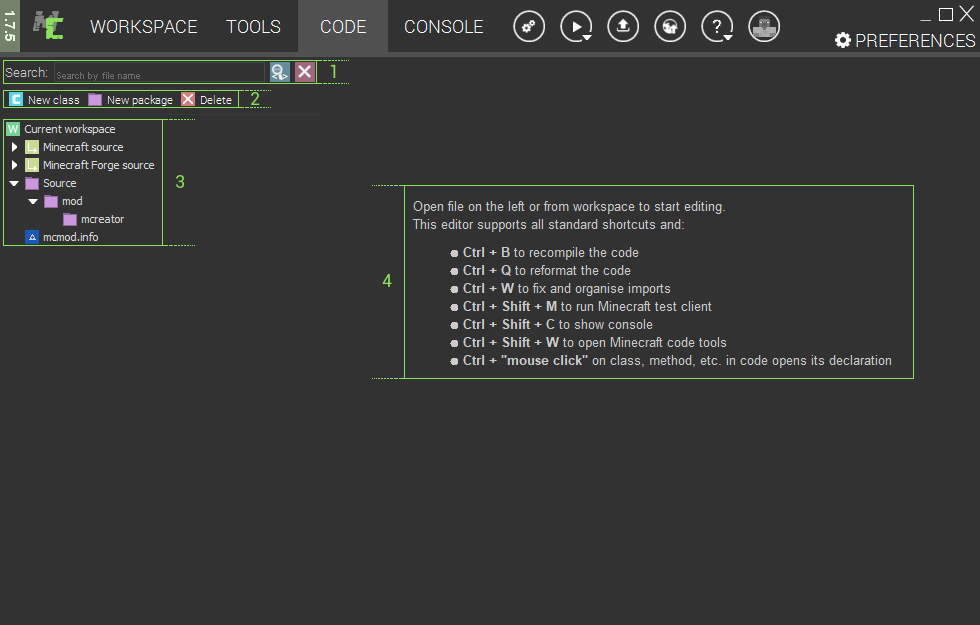 MCreator's Code Editor | MCreator
